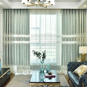 Embroidered Curtains for Living Room and Bedroom Modern Minimalist Curtains Chenille Embroidery Curtains
