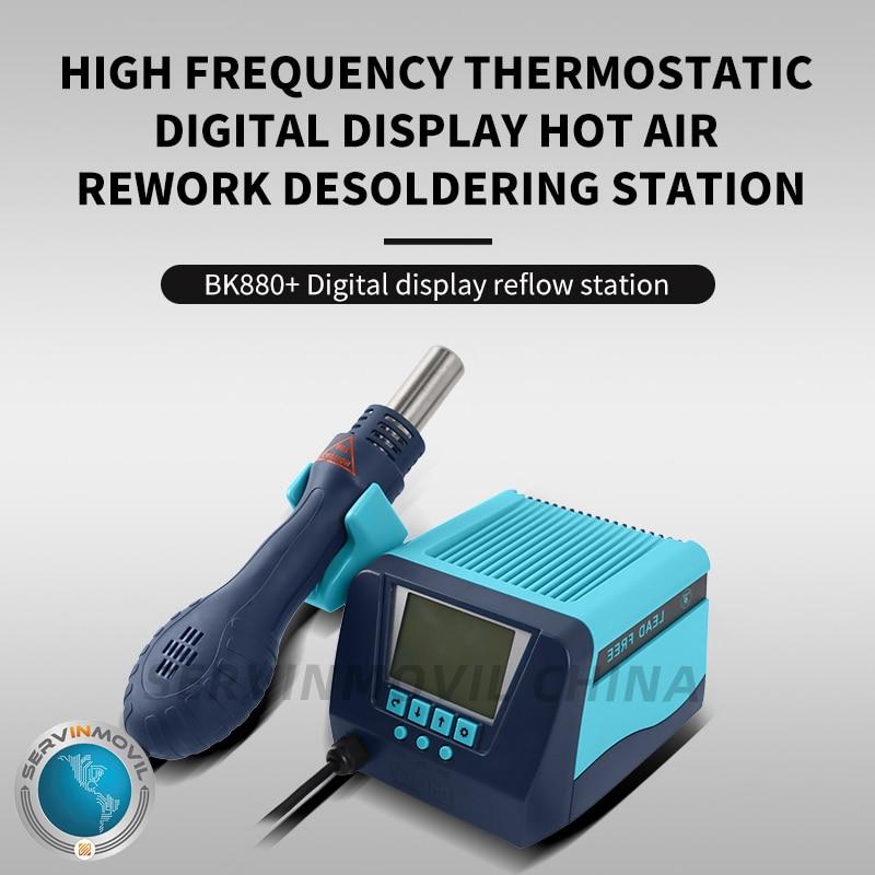 BK880 Manufacturer High Frequency Thermostatic Digital Display Hot Air Rework Desoldering Station