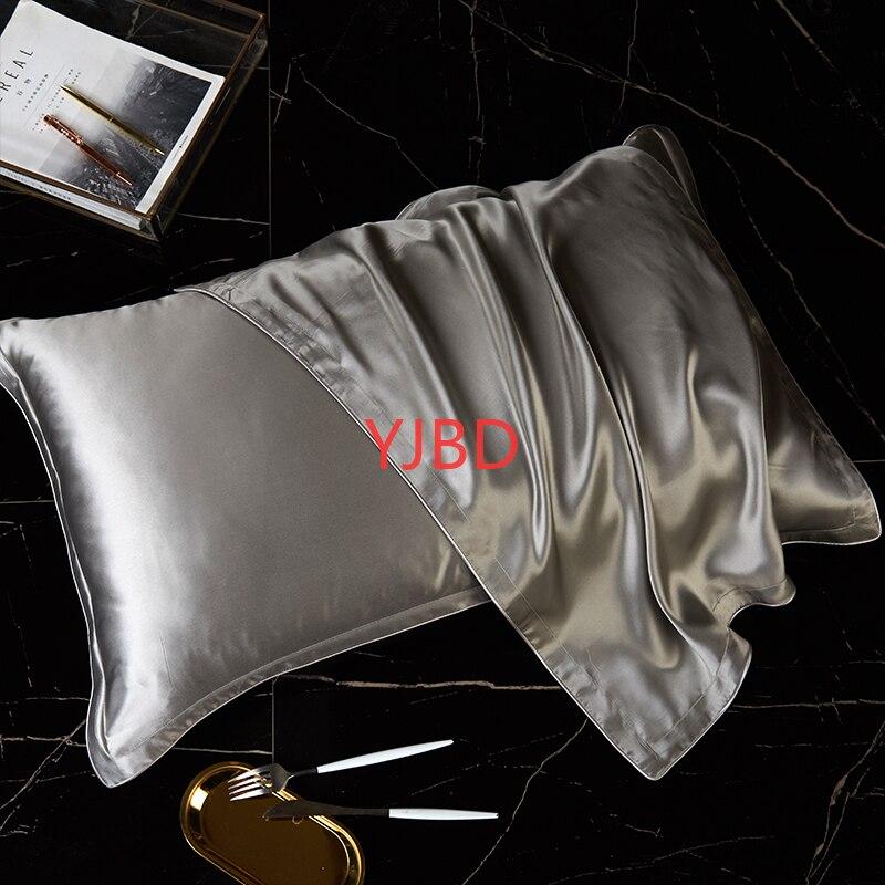 YJBD-غطاء وسادة من الحرير الخالص 100% ، حرير التوت الطبيعي ، غطاء وسادة