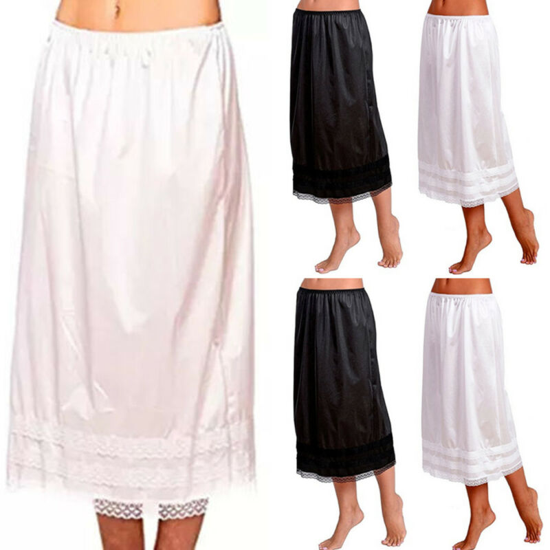 Nowe damskie damskie koronki na co dzień Skater rozszerzony plisowana huśtawka długa, do połowy łydki spódnica elastyczny, wysoki talia biust spódnice gładka sukienka typu Swing nowy