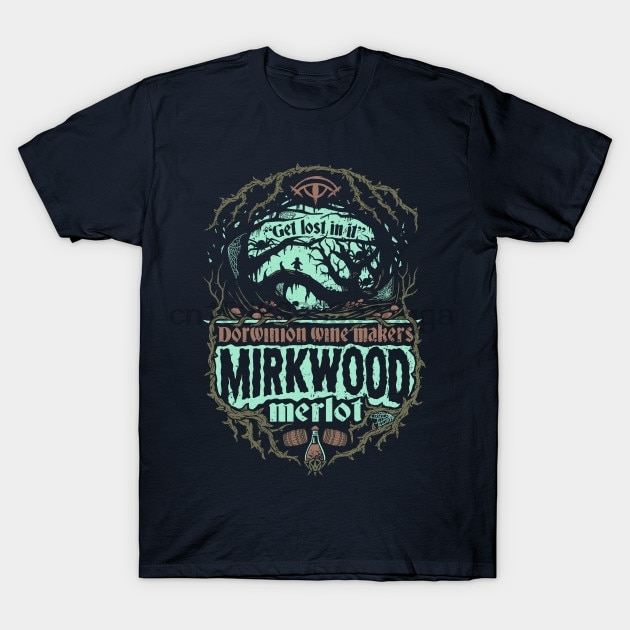 Męska koszulka z krótkim rękawem Mirkwood Merlot władca pierścieni koszulka damska t-shirt