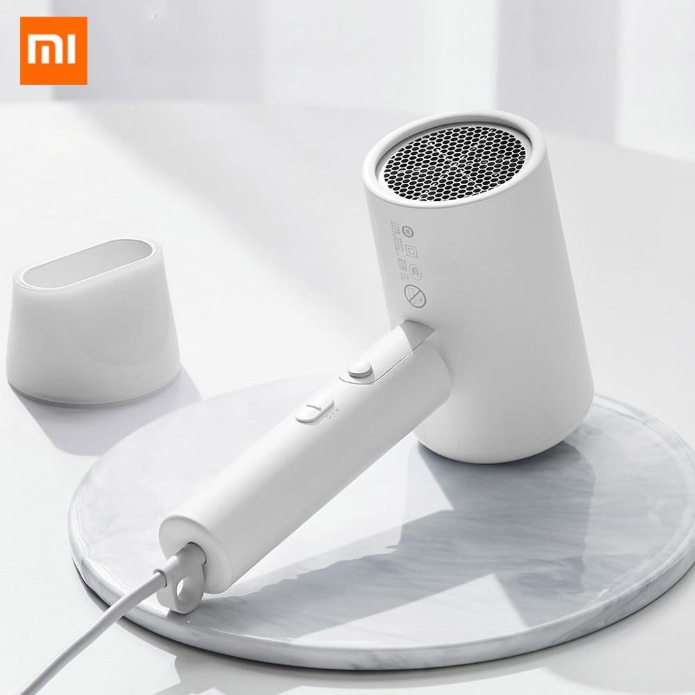 Secador de pelo Xiaomi Mijia, portátil, plegable, Anion Nano, secador de pelo para el cuidado del cabello, para viajes en casa, compatible con el modo de viento frío y caliente