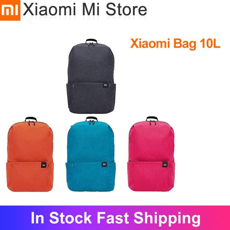 Em estoque xiaomi 10l mochila saco colorido nova cor multi-cenário aplicação ombros confortáveis para homens mulher criança