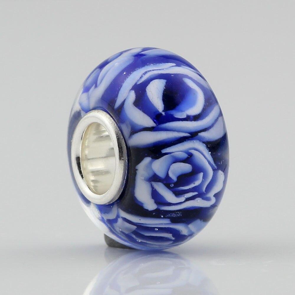 Beadshunter grânulos de vidro rosa azul artesanal