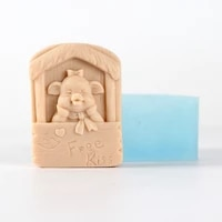 diy crafts soap mold cartoon pig with house shaped resin moulds handmade birthday present tool