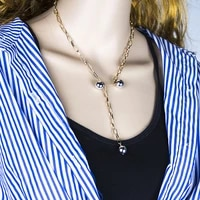 necklaces choker jewelry pendant necklaces a word clavicle chain simple and delicate pendant multi layer necklace for women
