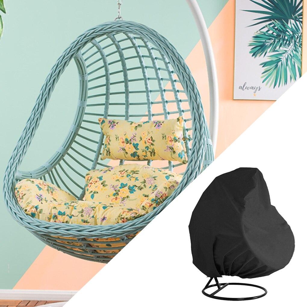 مقاوم للماء غطاء كرسي باحة البيض سوينغ كرسي غطاء غبار حامي كرسي من الخيزران واقية في الهواء الطلق غطاء كرسي بيض معلق