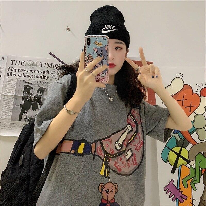 Celebridad de Internet Super corto sexy Camiseta de manga de las mujeres...