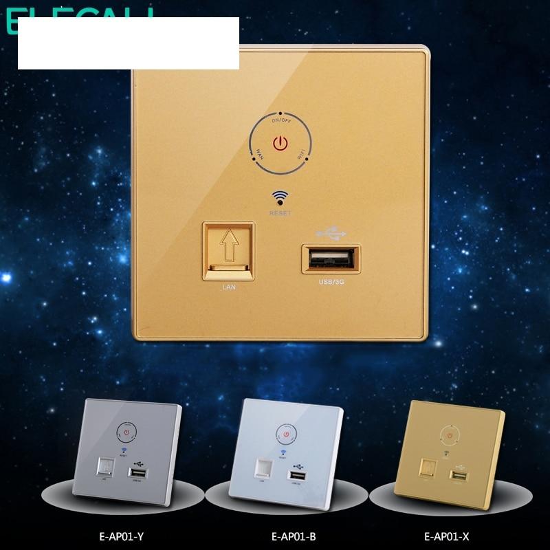 متعددة الوظائف فندق داخلي جدار راوتر لاسلكي اللمس التبديل الملونة واي فاي AP مكرر مع Swith 5 فولت 1A منفذ شحن USB
