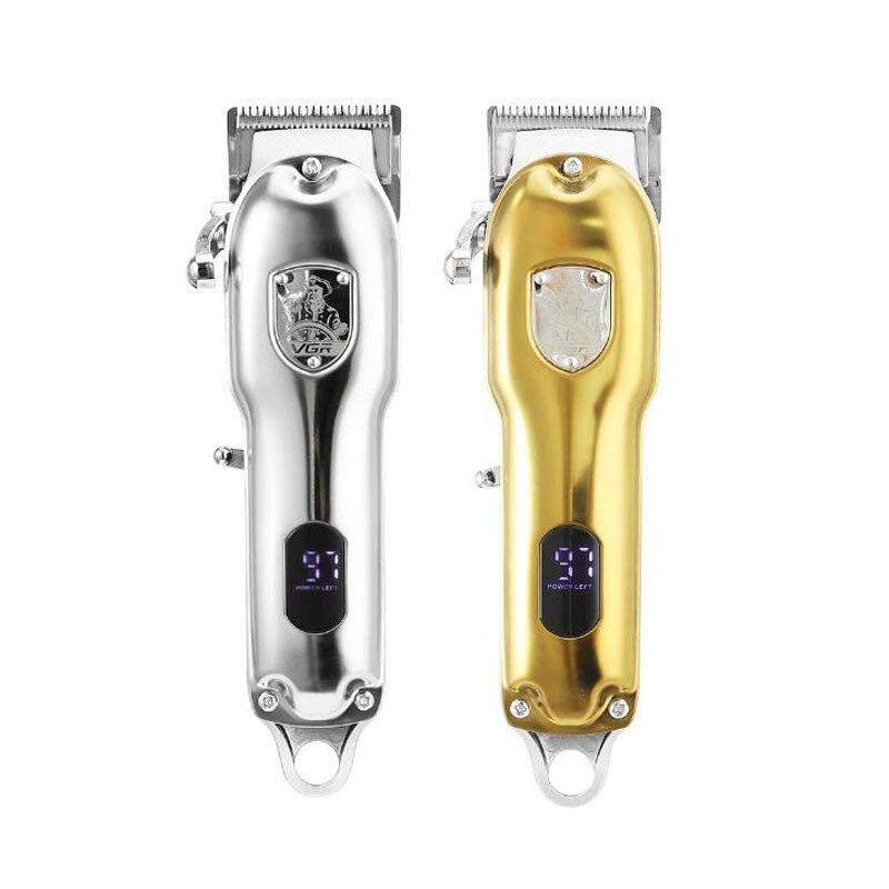 VGR 652 الشعر المتقلب USB قابلة للشحن مقص الشعر آلة حلاقة النفط المقص الأبيض نحت الشعر المقص أداة تهذيب اللحية LCD