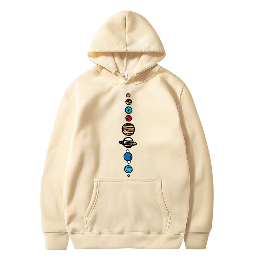 Planets Colour Sweatshirt Hoodies Men Sweatshirts Hoodie Hoody Streetwear 2021 Autumn Spring Creative Design Jumper Funny Tops