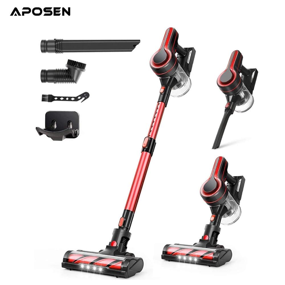 APOSEN Cordless Vacuum Cleaner H250 24KPa Powerful Suction 250W Brushless Motor 4in1 Stick Vacuum for Home Hard Floor Carpet Pet