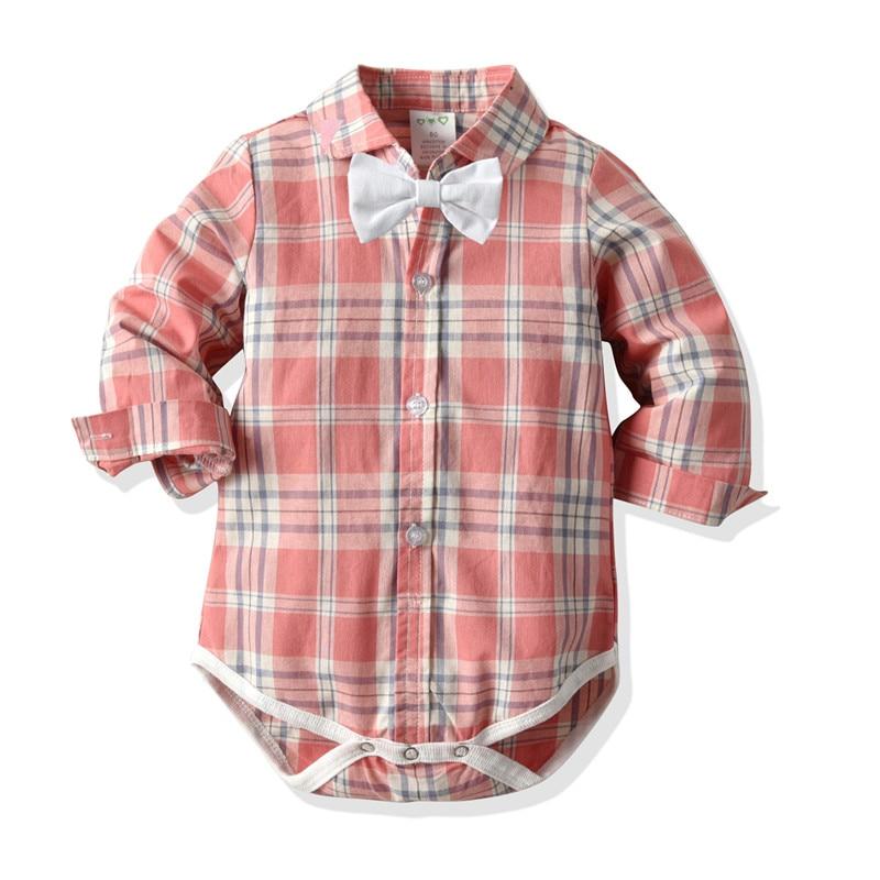 Chico moda ropa de mameluco niños ropa para bebé recién nacido de manga larga de una sola pieza niños mono