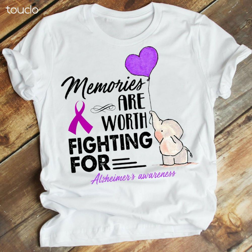 Memories Are Worth Fighting For Alzheimer_S Awareness Elephant Tshirt Plus Size TShirts