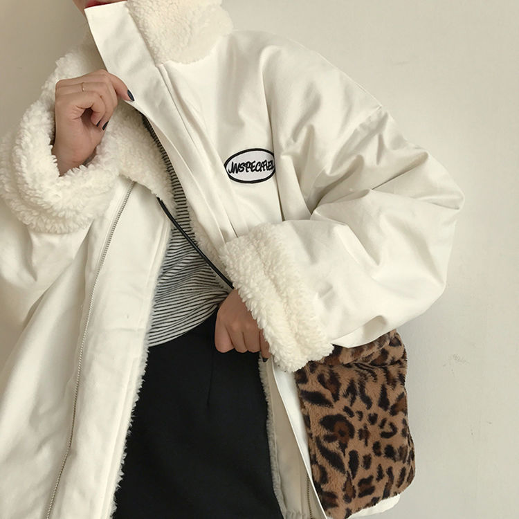 куртка женская куртка зимняя женская Двухсторонняя стеганая куртка для женщин, зимняя куртка из овечьей шерсти, новинка 2021, свободная куртк...
