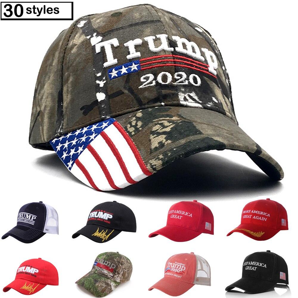Atacado algodão fazer américa ótimo novamente bordado eua bandeira 2020 donald trump chapéu boné de beisebol ao ar livre para homens unisex