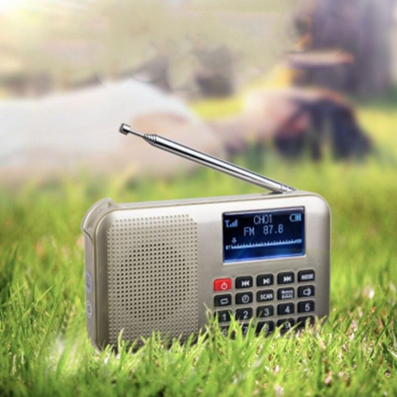 Mini altavoz de energía Solar reproductor de música de Audio Mp3 con luz de emergencia Led de oro