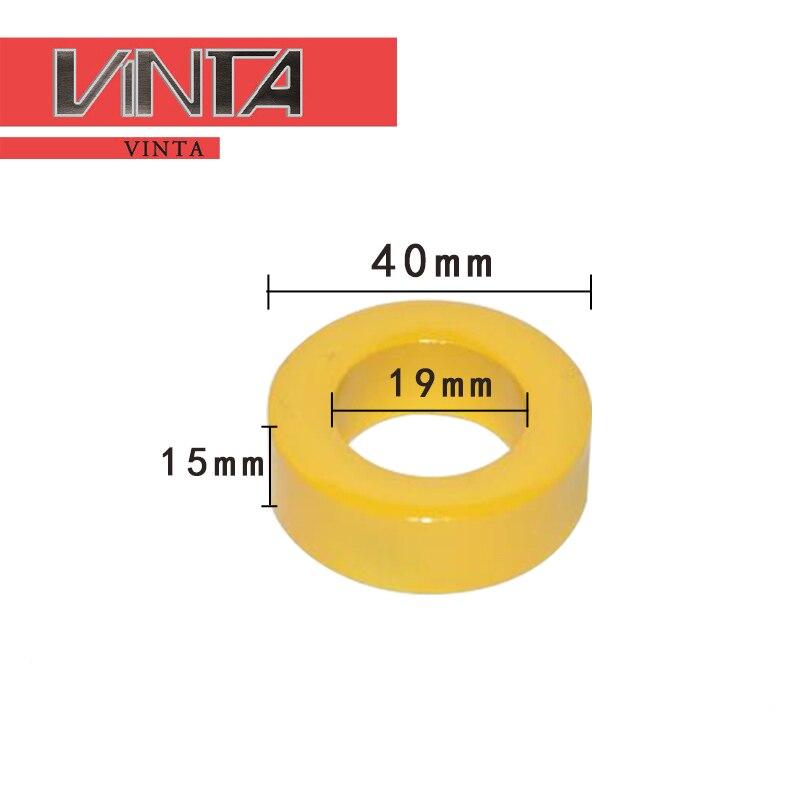 30 Uds. Núcleos de potencia de hierro inductor Amarillo/blanco 40x19x15mm recubierto polvo magnético núcleo de anillo de ferrita con la mejor calidad