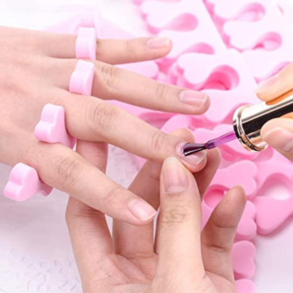 50 Uds suave esponja de espuma de dedo divisores espaciador de Arte de uñas herramientas de manicura pedicura polaco pintura manicura accesorios herramientas