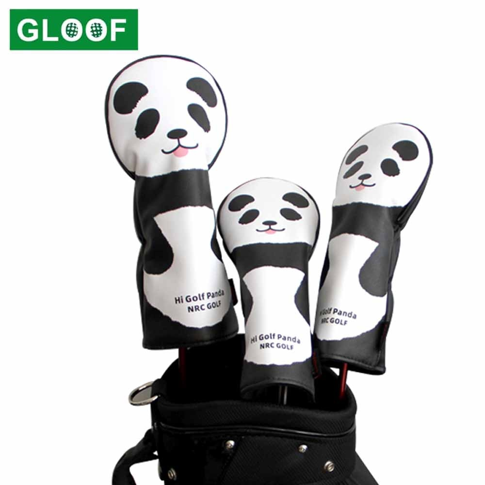 3 шт./компл. чехлы на голову для гольфа из искусственной кожи 3 5 чехлы на голову с изображением панды защитный чехол для водителя фарватера ак...