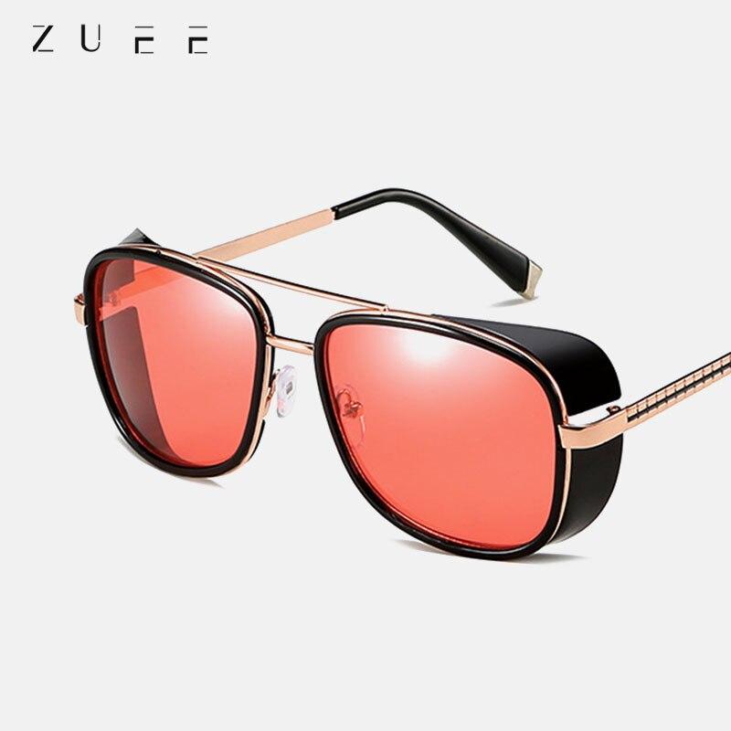 2021 Steampunk ton stark Iron Man 3 sunglasses men brand women mirror designer sun glasses Vintage l