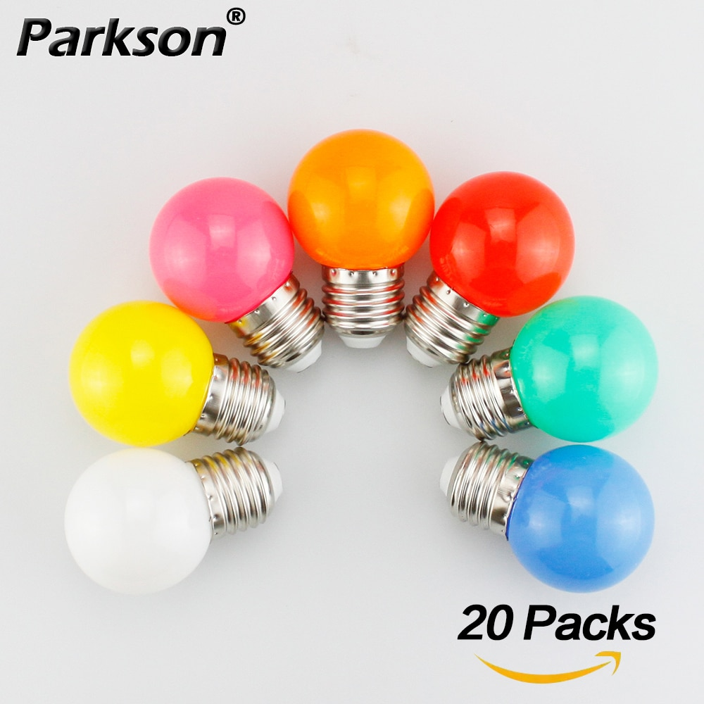 Bombilla LED de 20 piezas colores, lámpara LED E27 de 220V, G45,...