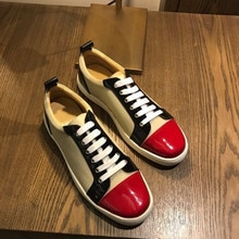 Men's sneakers casual shoes Dress Man Trainers red bottom shoes for men platform Luxury designer sho