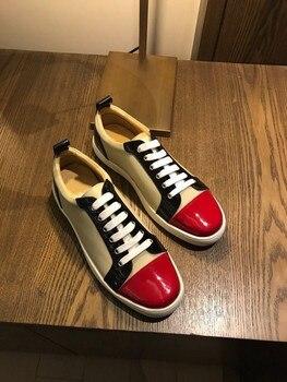 Men's sneakers casual shoes Dress Man Trainers red bottom shoes for men platform Luxury designer shoes Elevator Mocassin homme