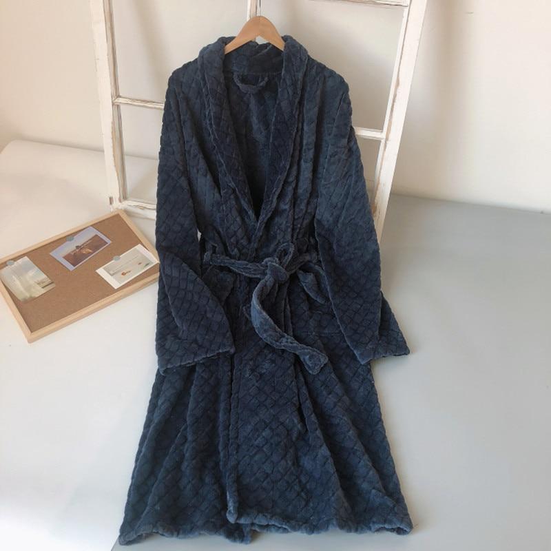 Robe Men winter coral velvet Warm Men's lounge Nightdress