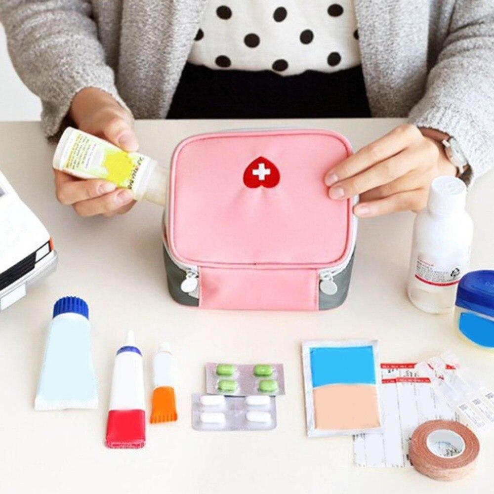 Mini Kit de primeros auxilios al aire libre bolsa de viaje Paquete de medicina portátil bolsas de emergencia bolsa de almacenamiento de medicina pequeño organizador