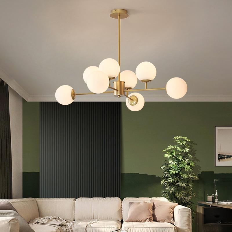 كرة زجاجية نجفة لغرفة النوم/غرفة المعيشة الشمال وجيزة قلادة LED مصباح المنزل Indor شنقا تركيب المصابيح داخلي MJ1124
