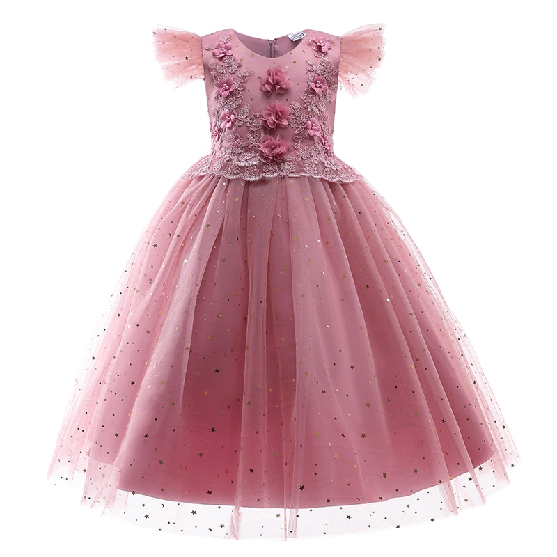Party Dress for Kids Girl Princess  Dress for Party  4 6 8 12 14 Years Girls Summer Wedding Dresses Birthday  Children Clothes