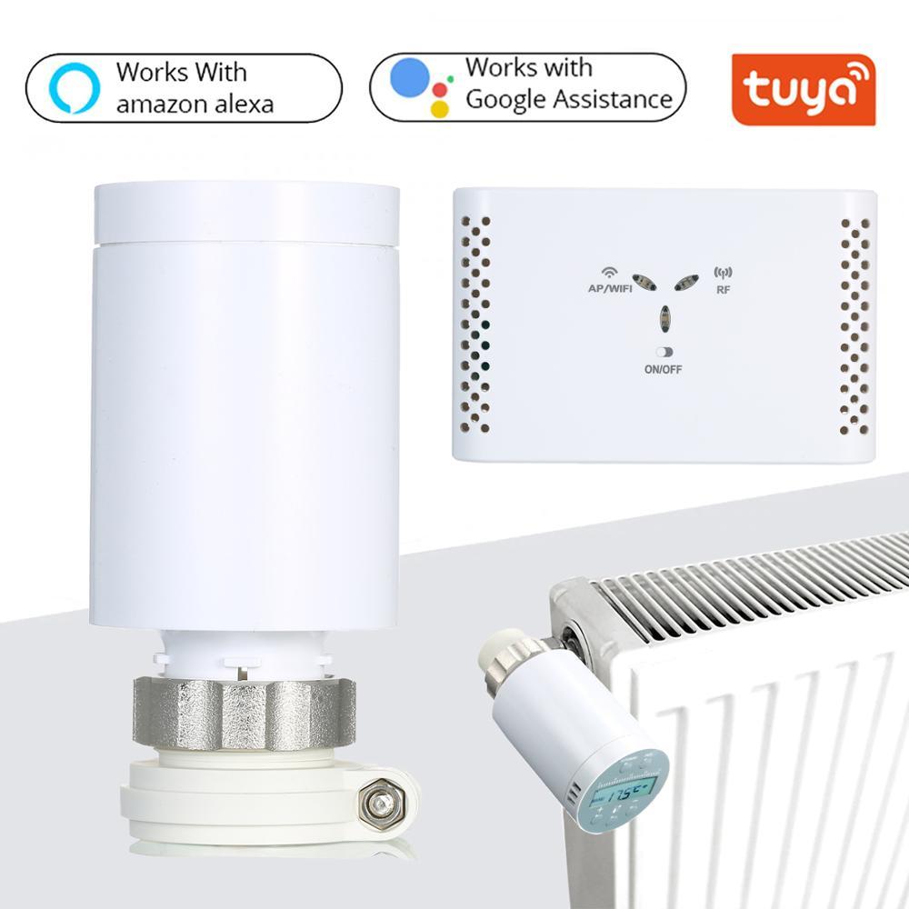SEA801-APP termostato programable controlador de temperatura del calentador y válvula de radiador termostático TRV precisa
