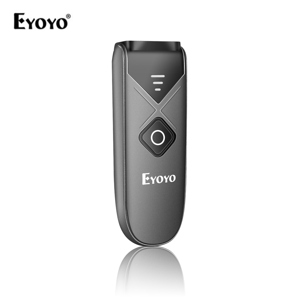 Eyoyo EY-015 Mini escáner de código de barras con cable USB Bluetooth 2,4G aplicación inalámbrica 2D QR PDF417 código de barras para iPad iPhone Android tabletas PC