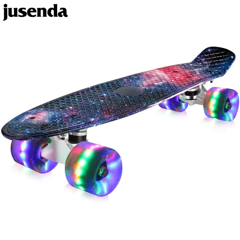 Jusenda-patineta Mini Cruiser de 22 pulgadas para niños, patineta de pesca, Scooter...