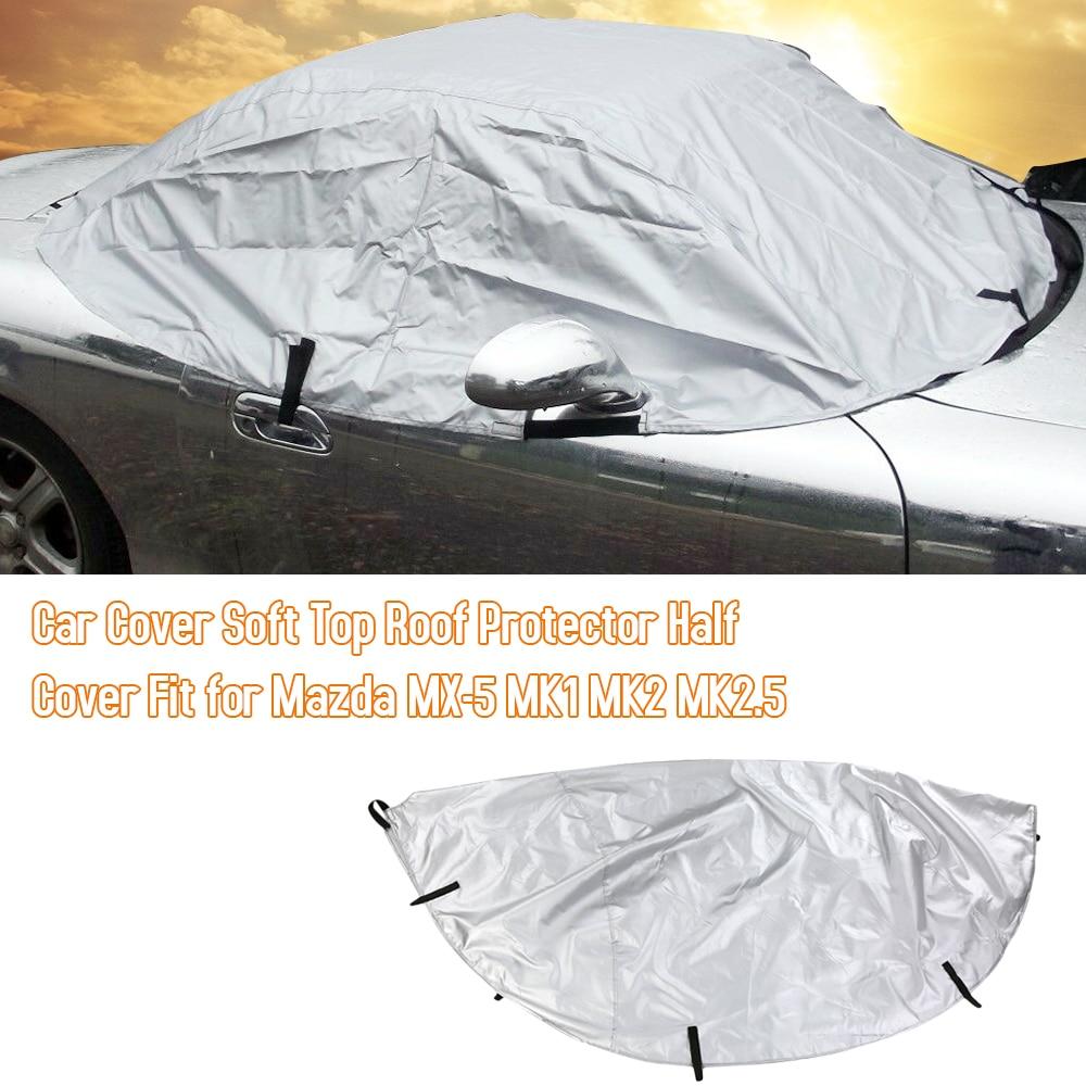 Автомобильный чехол, мягкая задняя крышка, автомобильный солнцезащитный чехол, складной чехол для Mazda защита крыши MK1 MK2 MK2.5, внешние аксессу...