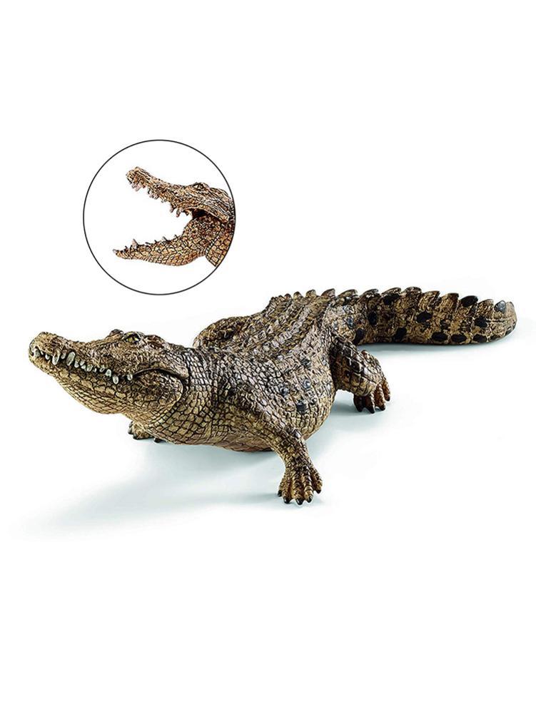 1 Uds. Figura de cocodrilo de 7,2 pulgadas figura de acción Animal juguetes PVC modelo de Animal salvaje figura educativa regalo para niños 14736