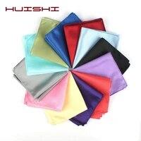 huishi mens solid colors hankerchief scarves vintage men suit pocket square wedding dress chest towel suit accessories square
