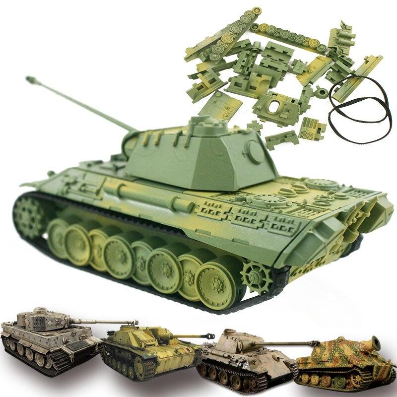 4D модель танка строительные наборы Военная сборка Обучающие игрушки материал украшения пантера Тигр штурм