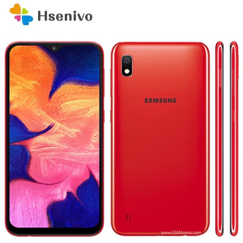 Восстановленный Оригинальный разблокированный Samsung Galaxy A10 A105F A105FN A105G A105M Android Wi-Fi GPS 13.0MP LCD 6,2 дюйм 2 Гб ОЗУ 32 Гб ПЗУ