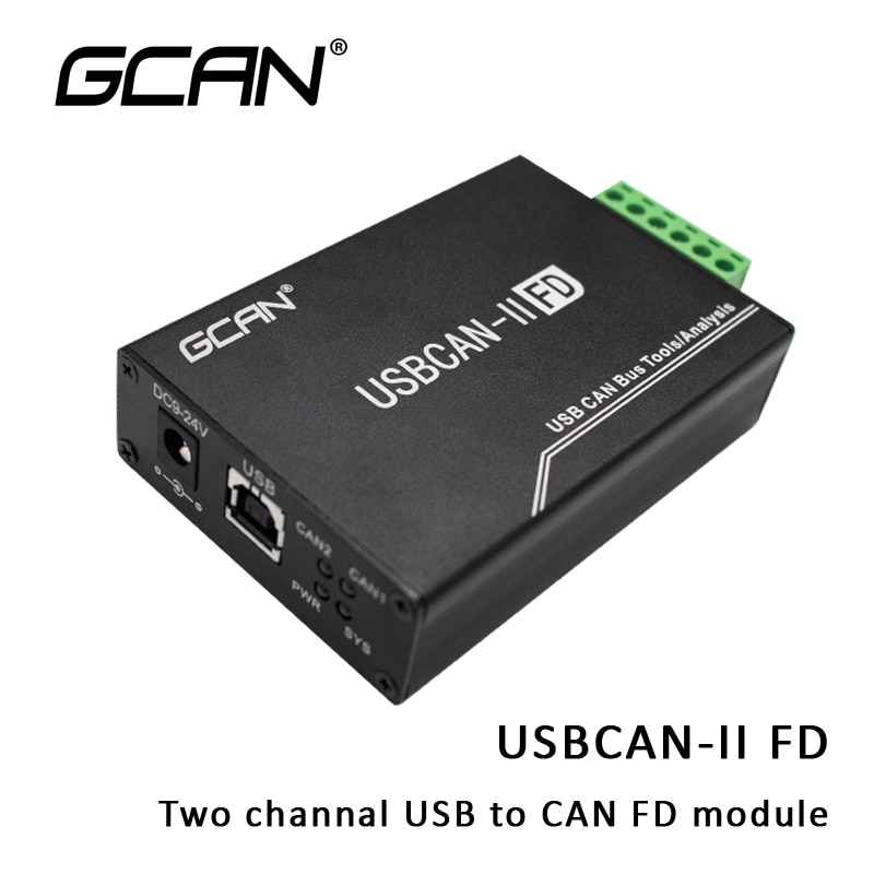 2-Channel Isolated Variable Baud Rate CAN FD Debug Analyzer with Interface Card CAN Bus used by high-performance kit and tools.