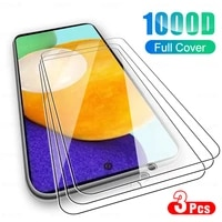 3Pcs Full Cover Glass For Samsung Galaxy A52 A32 4G 5G A12 Screen Protector Glas For Sansung A 52 72 32 42 12 02 Protection Film