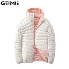 Women's Jackets Outwear Down Ultra Light Hooded Basic Jacket Feather Famale Jackets Two Side Reversi