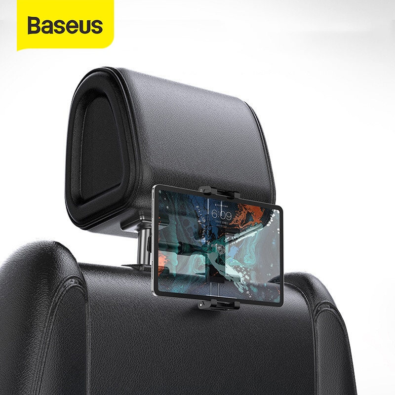 Baseus Car Back Seat Headrest Mount Holder For iPad 4.7-12.9 inch 360 Rotation Universal Tablet PC A