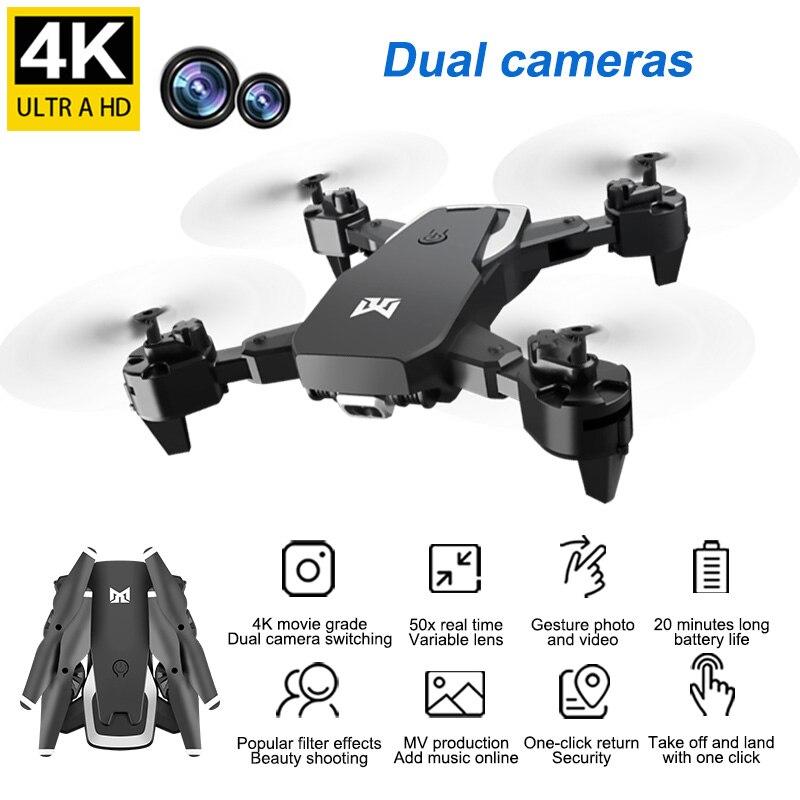 Dron 4K Mini HD con/sin cámara Drohne Modo de retención alta RC Quadcopter RTF WiFi FPV Hover helicóptero plegable VS HS210
