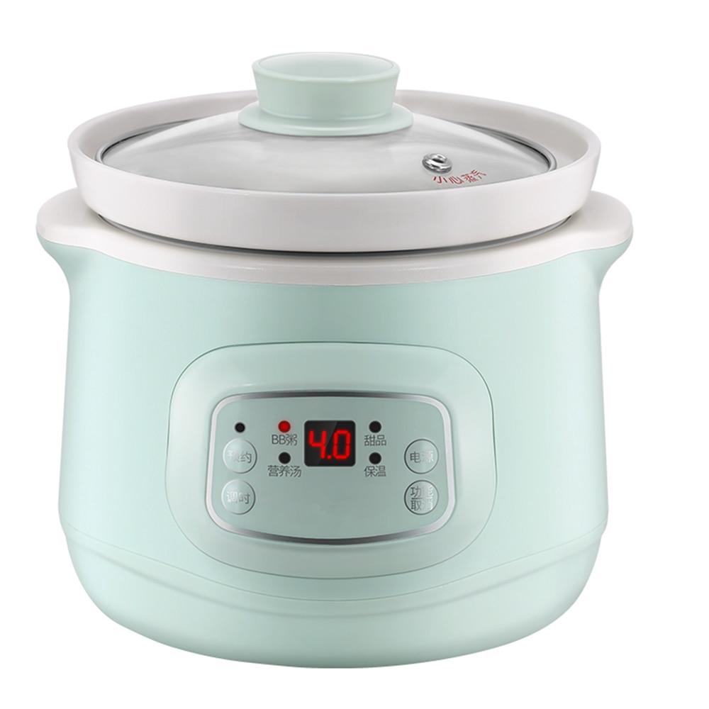 220 فولت 1L وعاء كهربائي صغير الطبخ السيراميك الداخلية موقد متعدد الوظائف المنزلية التلقائي الكهربائية بطيئة Stewer