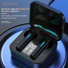 Wireless Earphone Bluetooth 5.0 Headsets LED Display with mic Hifi Stereo Sport Earbuds earphones ba