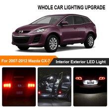 Białe czerwone żarówki samochodowe zewnętrzne wnętrze LED Light For 2007 2008 2009 2010-2012 Mazda CX-7 rewers Brake Parking lampka kierunkowskazu