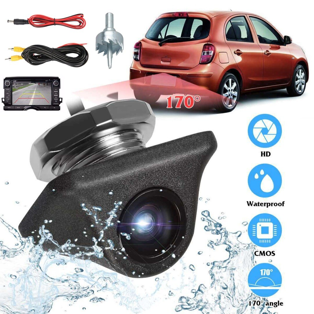 For Vehicle Camera Kits 1 Set 1920x1080P Car Camera 170 Degree Fish Eye Lens Starlight Night Vision HD Rear View Camera Mayitr