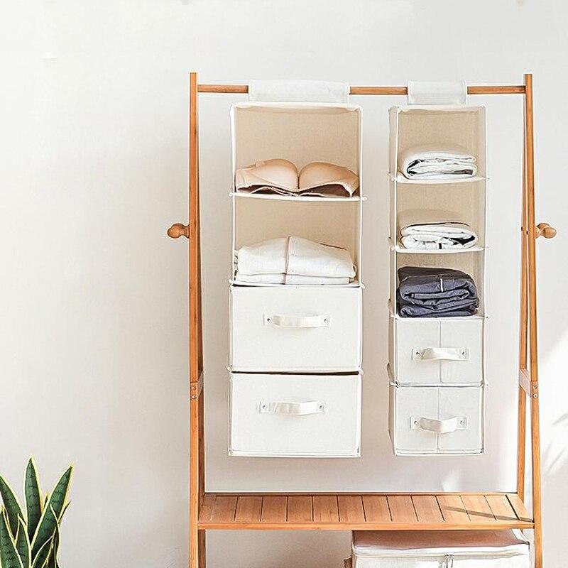 Organizador De guardarropa colgante, bolsa De almacenamiento con cajón para ropa interior,...